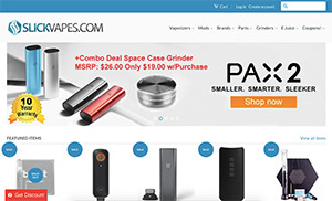Screenshot slickvapes.com